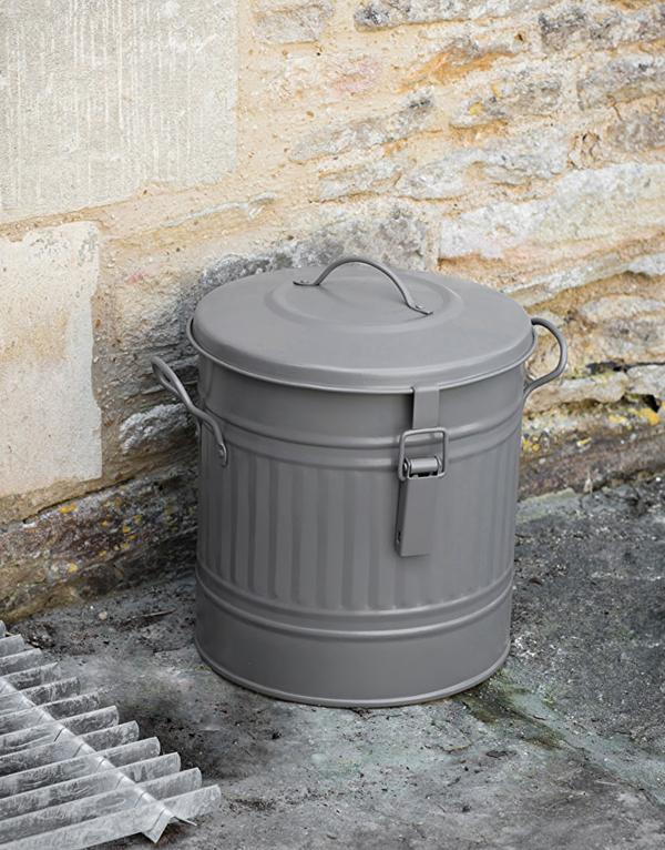 Grey_steel_outside_compost_bucket