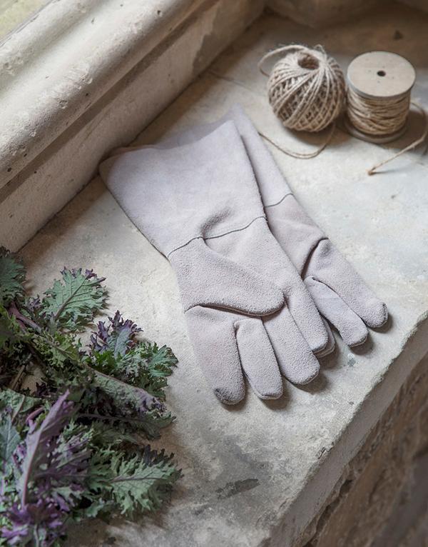 Grey_suede_gauntlet_gardening_gloves
